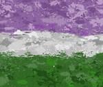 Genderqueer Paint Splatter Flag