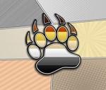 Halftone Bear Pride Symbol