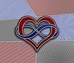 Halftone Polyamory Pride Symbol