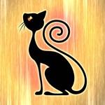 Black Cat Vintage Style Design