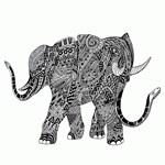 Snakelephant Indian Ink