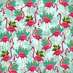Pink Flamingos Fabric Pattern