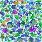 Exotic Marine Life Decorative Style