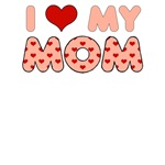 Mother's Day: I Love My Mom Pink Heart Letters