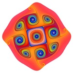 Hypnotic Red Original Fractal T-shirts & Gifts