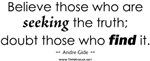 Truth: Seeking Truth