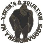 Bigfoot in woods