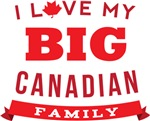 I Love My Big Canadian Family T-shirts