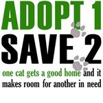 Adopt 1 Save 2 cats