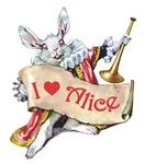 ALICE'S WHITE RABBIT - PINK EYES