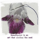 Needlepoint Design Purple Iris
