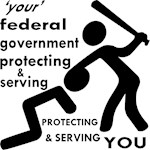 Stick Figures Fed Gov Protecting & Serving You