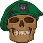 Green Beret Skull