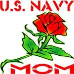 U.S. Navy Mom w/ Rose