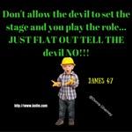 Men's Apparel - Tell The Devil No Design
