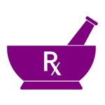 Purple Mortar and Pestle Rx