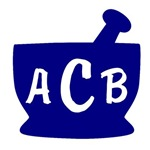 Blue Monogram Mortar and Pestle