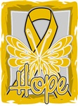 Hope Butterfly Appendix Cancer Ribbon Shirts