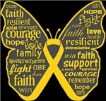 Neuroblastoma Butterfly Collage of Words Shirts