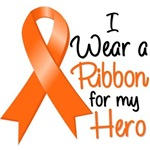 Kidney Cancer I Wear a Ribbon For My Hero Shirts
