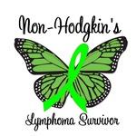Non-Hodgkin's Lymphoma Survivor Butterfly T-Shirts