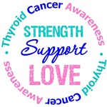 Thyroid Cancer Strength Support Love Shirts & Gift
