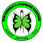 Non-Hodgkin's Lymphoma Survivor Butterfly Shirts