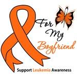 Leukemia Ribbon For My Boyfriend Shirts & Gifts