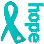 Hope Ribbon Ovarian Cancer Shirt and Gifts