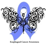 Esophageal Cancer Tribal Butterfly Shirts