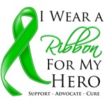 Bile Duct Cancer I Wear A Ribbon For My Hero Shirt