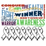 Empowering Words Bone Cancer Shirts