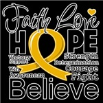 Faith Hope Appendix Cancer Shirts