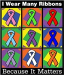 I Wear Many Ribbons Because It Matters Cancer Tees