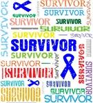 Survivor Colorful Colon Cancer Shirts