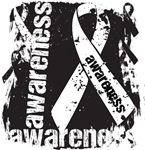 Mesothelioma Cancer Awareness Grunge Ribbon Shirts