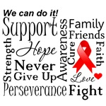 Blood Cancer Supportive Words Shirts