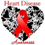 Heart Disease Heart Ribbon Shirts and Gifts