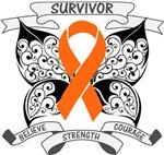 Kidney Cancer Survivor Butterfly Shirts