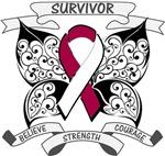 Head Neck Cancer Survivor Butterfly Shirts