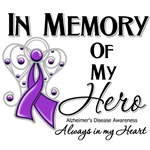 In Memory of My Hero Alzheimers Disease Shirts