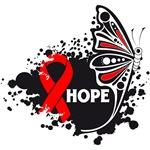 Hope Grunge Butterfly Blood Cancer Shirts