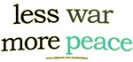 Less war, More peace