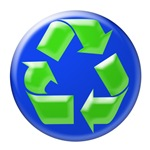Recycle Symbol-Blue and Green