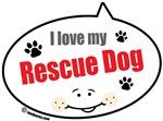 I Love My Rescue Dog Quote Bubbles