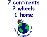7 continents, 2 wheels, 1 home