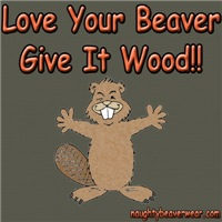 Love Your Beaver Give It Wood!