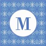 Blue Glacier Monogram
