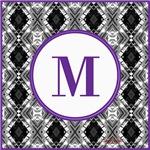 Diamond Purple Monogram