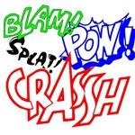 pow, bam, crash